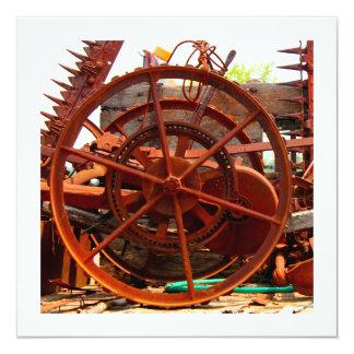 Máquinas oxidadas do steampunk do equipamento convite quadrado 13.35 x 13.35cm