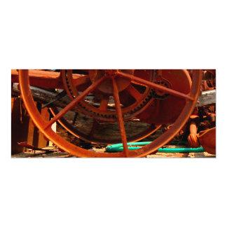 Máquinas oxidadas do steampunk do equipamento convite 10.16 x 23.49cm