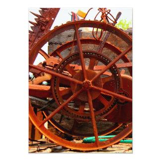 Máquinas oxidadas do steampunk do equipamento convite 12.7 x 17.78cm