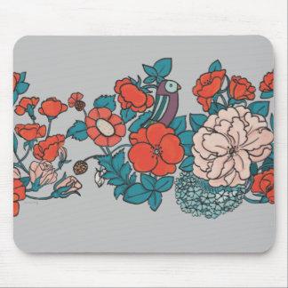 Mar asiático de flor mouse pad