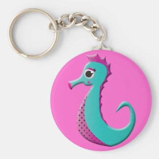 Mar-cavalo dos desenhos animados chaveiro