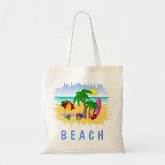Mar de Sun da praia e bolsa de praia do bolsa do