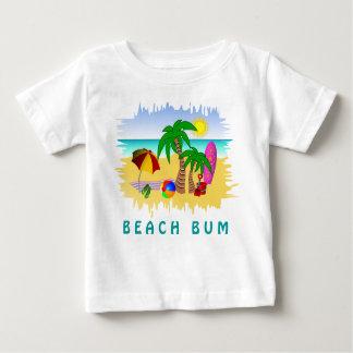 Mar de Sun do vagabundo da praia e T colorido do Camiseta Para Bebê