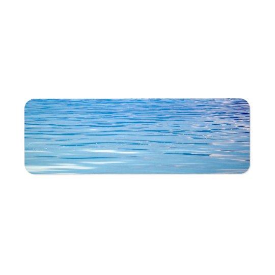 Mar do fundo da tranquilidade etiqueta endereço de retorno