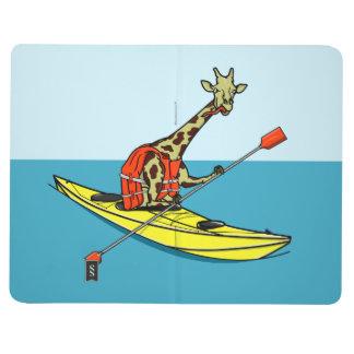 Mar do girafa dos desenhos animados que kayaking diário