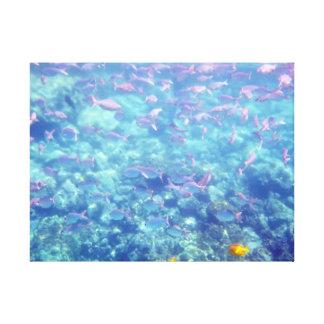 Mar do impressão das canvas dos peixes