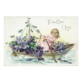 Mar do veleiro das violetas da menina arte de fotos