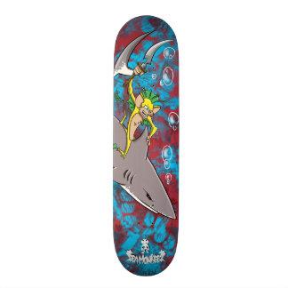 """Mar Monkeez """"águas sangrentas """" Shape De Skate 18,4cm"""