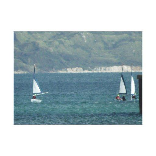 Mar Sailers Impressão De Canvas Esticadas
