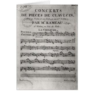 Marc a folha para 'Concerto de Parte de Cartão Comemorativo