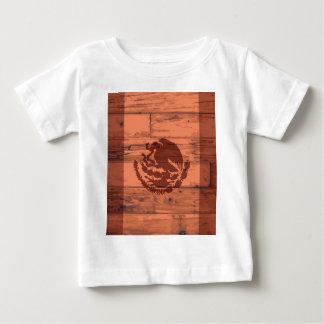 Marca da bandeira de México Camiseta Para Bebê