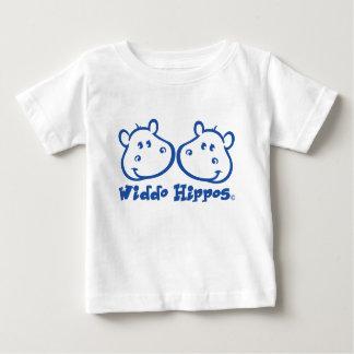 Marca da roupa do bebê dos hipopótamos de Widdo Camiseta Para Bebê