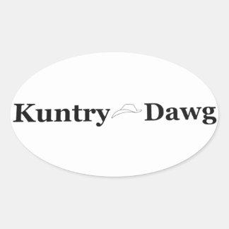 Marca de Kuntry Dawg no decalque Adesivo Oval