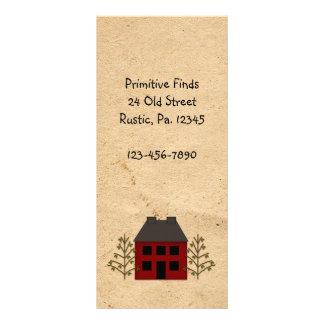 Marca de livro primitiva do cartão da cremalheira 10.16 x 22.86cm panfleto