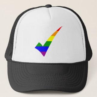 Marca de verificação do arco-íris da Multi-Cor Boné