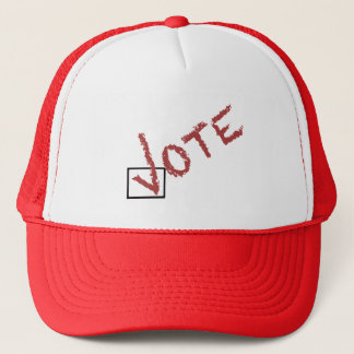 marca de verificação do voto boné