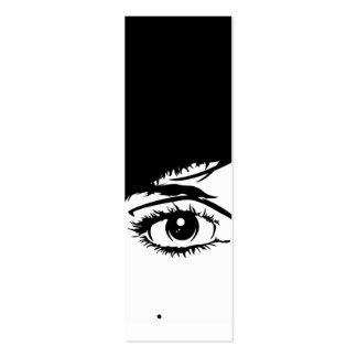 Marcador abstrato da cara das meninas cartão de visita skinny