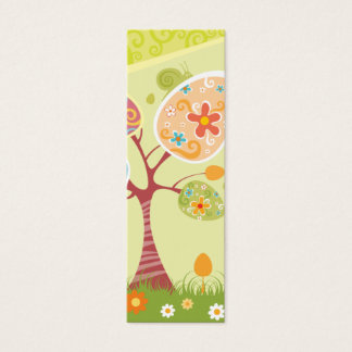 Marcador abstrato do felz pascoa cartão de visitas mini