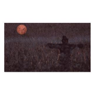 Marcador assombrado do campo do milho cartão de visita