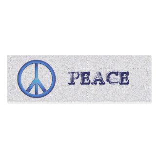 Marcador azuis da paz cartão de visita skinny