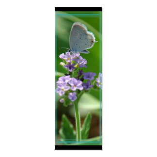 Marcador azul atado oriental da borboleta cartão de visita skinny