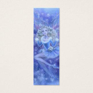 Marcador azul da fada do Natal Cartão De Visitas Mini