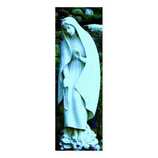 MARCADOR azul da Virgem Maria Cartão De Visita Skinny
