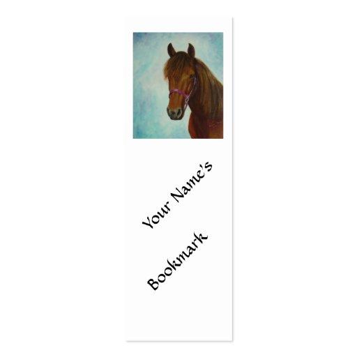 Marcador, Chichi, uma égua de Paso Fino da baía Cartoes De Visita