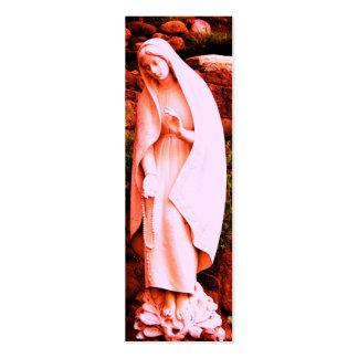 MARCADOR cor-de-rosa da Virgem Maria Cartão De Visita Skinny