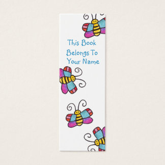 Marcador da borboleta! cartão de visitas mini