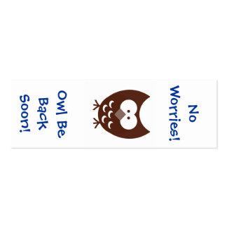 Marcador da coruja! cartão de visita skinny