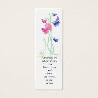 Marcador da ervilha doce cartão de visitas mini