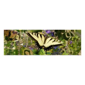 Marcador da imaginação da borboleta cartão de visita skinny