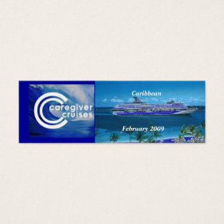 Marcador da lembrança do cruzeiro do cuidador cartão de visitas mini