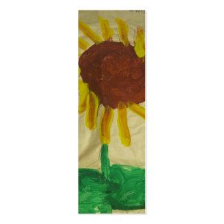 Marcador da pintura da arte do girassol cartão de visita skinny
