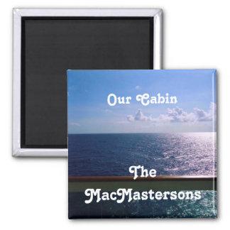 Marcador da porta de Stateroom do azul de oceano Ímã Quadrado