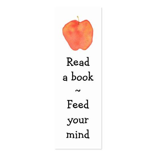Marcador de Apple da leitura mini - Cartao De Visita