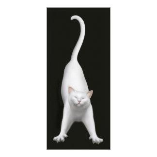 Marcador de esticão feliz do gato panfletos informativos personalizados