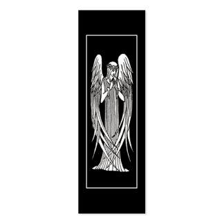 Marcador de Nouveau da arte do anjo de Beardsley Cartão De Visita Skinny