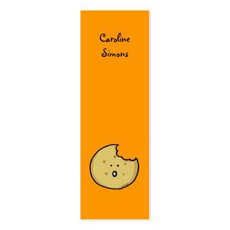 Marcador do biscoito de chá cartão de visita skinny