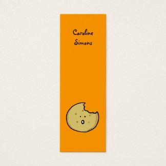 Marcador do biscoito de chá cartão de visitas mini