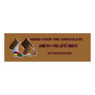 Marcador do chocolate cartão de visita skinny