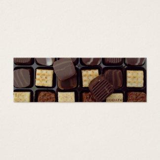 marcador do chocolate cartão de visitas mini
