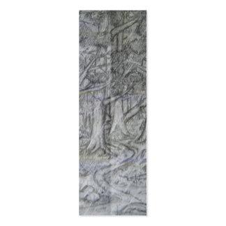 Marcador do desenho de lápis da natureza cartão de visita skinny