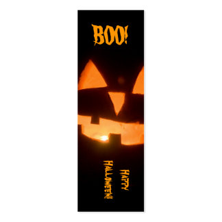 marcador do Dia das Bruxas Cartões De Visita