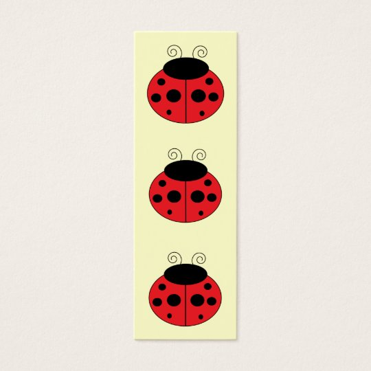 Marcador do joaninha cartão de visitas mini