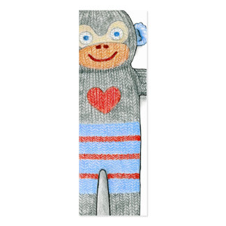 Marcador do macaco da peúga mini modelos cartoes de visita