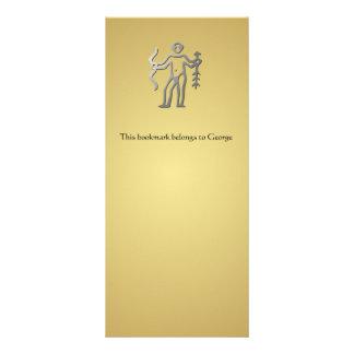 Marcador do ouro da prata do sinal da estrela do z modelos de panfletos informativos