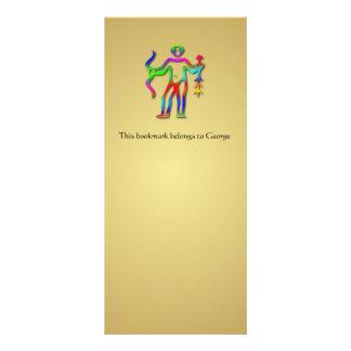Marcador do ouro do arco-íris do sinal da estrela  10.16 x 22.86cm panfleto