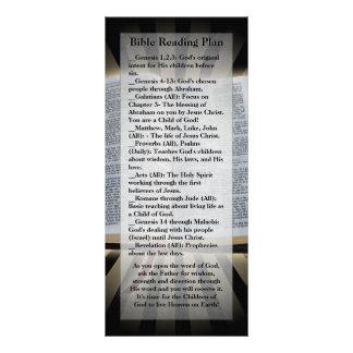 Marcador do plano da leitura da bíblia 10.16 x 22.86cm panfleto